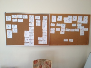 Starting to affinity map key learning from the trip.