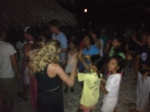 Spontaneous dance party on the beach of Apo Island, last night of trip.