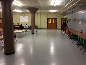 What if this marvelous space at Holy Names School had idea paint of the walls and a 3-d printer?!